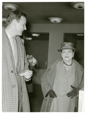 Helena Rubinstein with young man in Dusseldorf