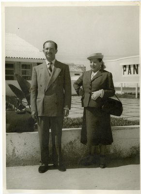 Helena Rubinstein and Oscar Kolin in Rio de Janeiro