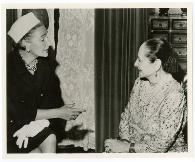 Helena Rubinstein and Harper's editor Nancy White