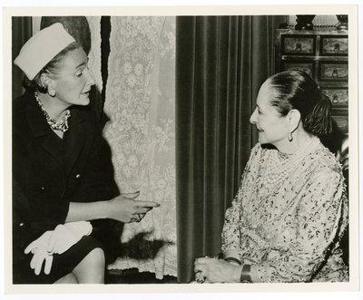 Helena Rubinstein and Harper's editor Nancy White
