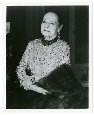 Helena Rubinstein in Yves Saint Laurent beaded garment