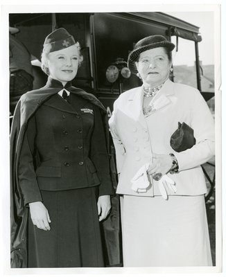 Helena Rubinstein with actor June Allyson