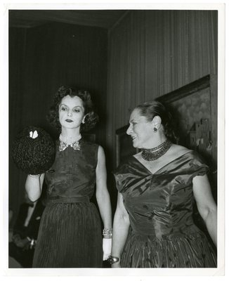 Helena Rubinstein and socialite Brenda Frazier