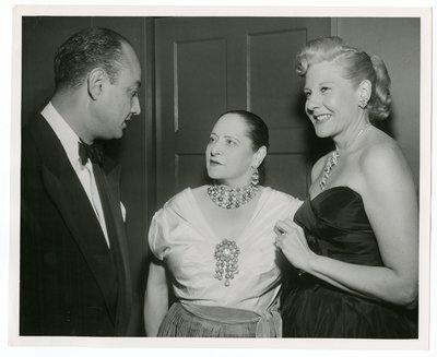 Helena Rubinstein with actor Benay Venuta