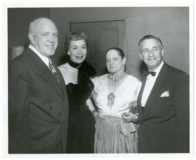 Helena Rubinstein with Jimmy McHugh, Jane Wyman, and Mervyn LeRoy