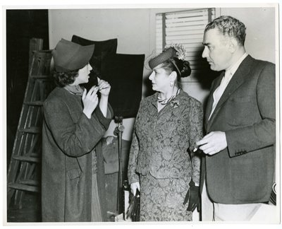 Helena Rubinstein and Artchil Gourielli with actor Gail Paige