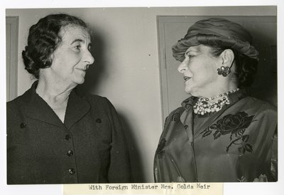 Helena Rubinstein with Golda Meir