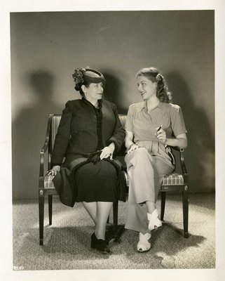 Helena Rubinstin with actor Anne Sheridan