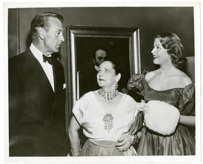 Helena Rubinstein with actor Gary Cooper