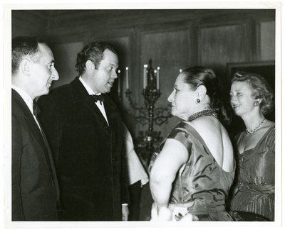 Orson Welles with Helena Rubinstein