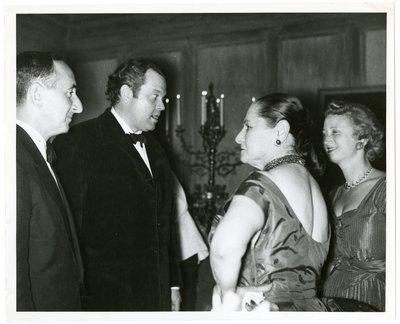 Orson Welles with Helena Rubinstein