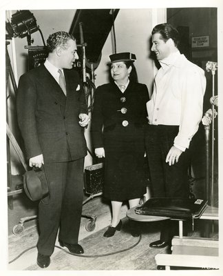 Helena Rubinstein and Artchil Gourielli with actor Don Ameche