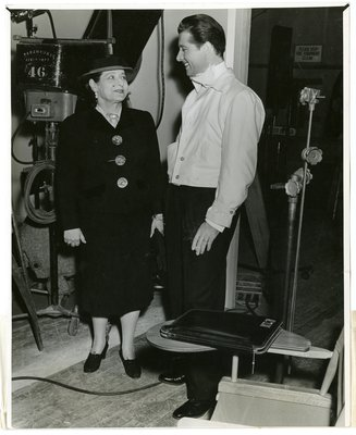 Helena Rubinstein with actor Don Ameche