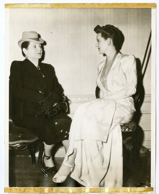 Bette Davis and Helena Rubinstein