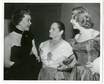 Helena Rubinstein with Jane Wyman and Arlene Dahl