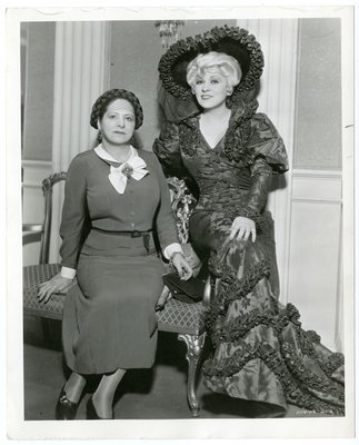 Mae West with Helena Rubinstein