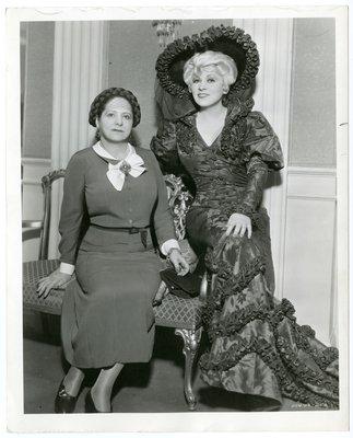 Mae West with Helena Rubinstein