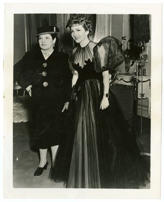 Helena Rubinstein with actor Claudette Colbert