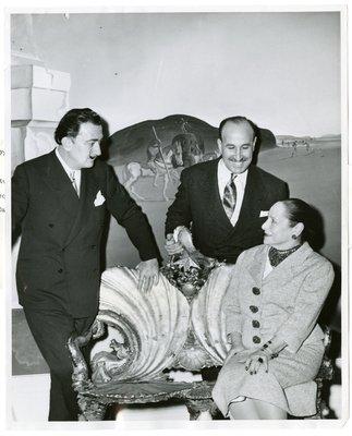 Salvador Dali and Helena Rubinstein in the Dali Room