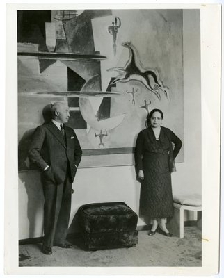 Helena Rubinstein and artist Marcoussis