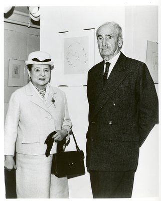 Helena Rubinstein with artist George Biddle