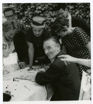 Helena Rubinstein with artist Jean Fautrier