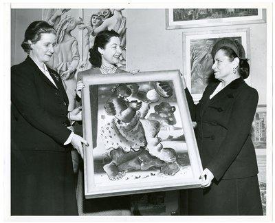 Helena Rubinstein with actor Ilka Chase
