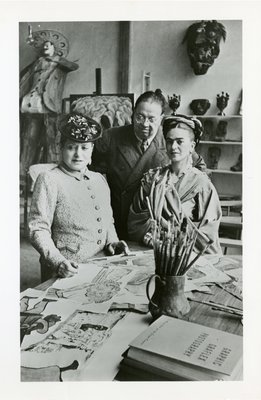 Frida Kahlo, Diego Rivera, and Helena Rubinstein