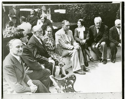 Helena Rubinstein with Henri Matisse, George Braque, Fernand Leger, Marcoussis, Maurice Raynal, and Paul Eluard