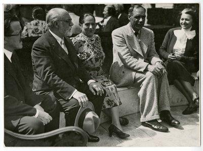 Henri Laugier, Henri Matisse, Helena Rubinstein, Henri Laurens and Marie Cuttoli