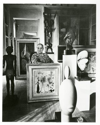 Helena Rubinstein with modern and primitive art collection