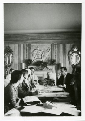 Helena Rubinstein and executives in a meeting