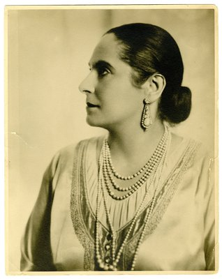 Helena Rubinstein in blouse by Schiaparelli