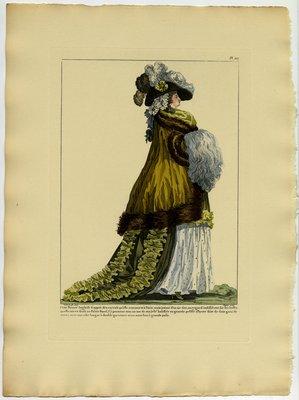 Cette Beaute Angloise, Fashion plate from Galerie des Modes et Costumes Français