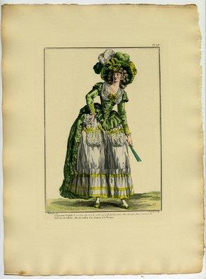 Agacante Eriphile, Fashion plate from Galerie des Modes et Costumes Français