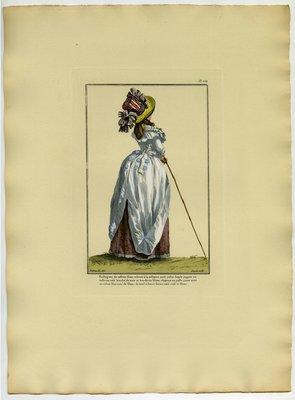 Redingote de Taffetas, Fashion plate from Galerie des Modes et Costumes Français
