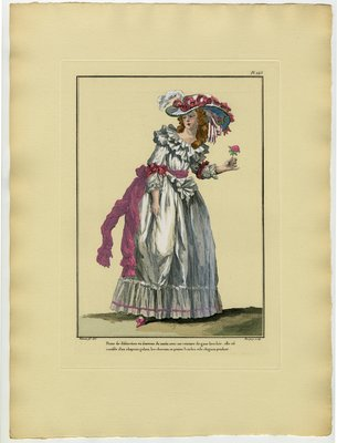 Danse de Distinction, Fashion plate from Galerie des Modes et Costumes Français