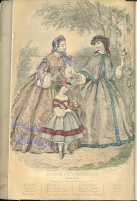 Fashion plate from Magazin des Demoiselles, September 25, 1861