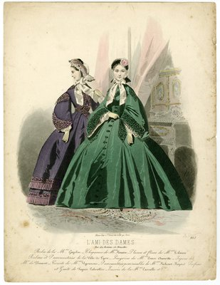 Two women in wide sleeved bodices