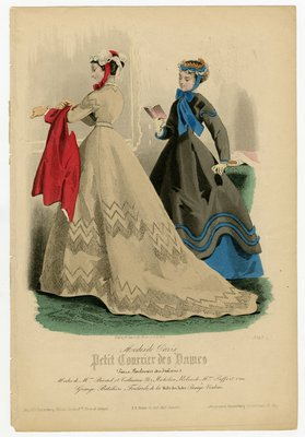 Fashion plate from Petit Courrier des Dames