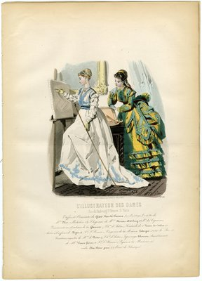 Fashion plate from L'Illustrateur des Dames