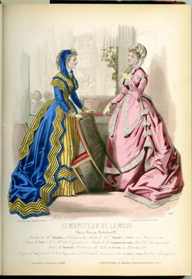Fashion plate from Le Moniteur de la Mode