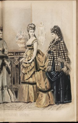 Fashion plate from Peterson's Magazine, December 1871
