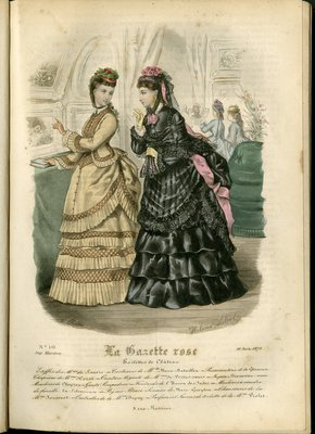 Fashion plate from La Gazette Rose, June 16, 1872
