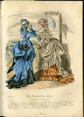 Fashion plate from La Gazette Rose, May 1, 1873