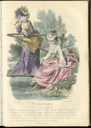 Fashion plate from La Gazette Rose, September 15, 1873