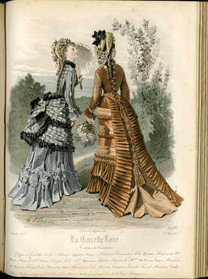 Fashion plate from La Gazette Rose, May 1, 1875