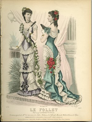 Fashion plate from Le Follet