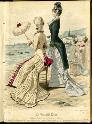 Fashion plate from La Gazette Rose, August 1, 1879