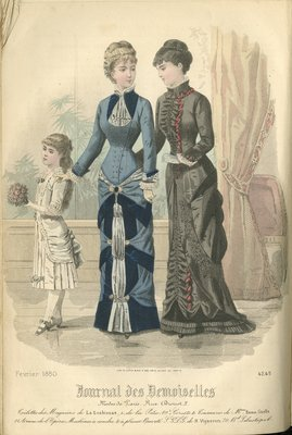Fashion plate from Journal des Demoiselles, February 1880